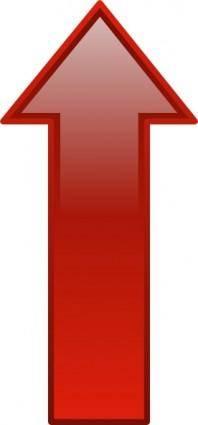 Arrow-up-red clip art