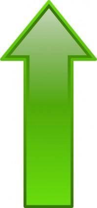 Arrow-up-green clip art