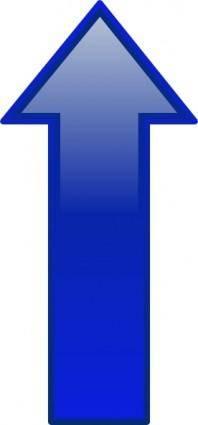 Arrow-up-blue clip art