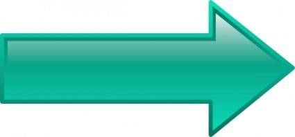 Arrow-right-seagreen clip art