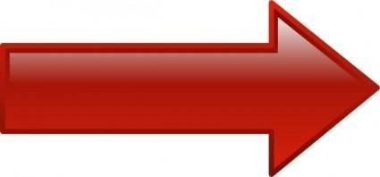 Arrow-right-red clip art
