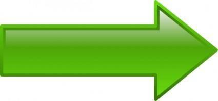 Arrow-right-green clip art