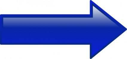 Arrow-right-blue clip art