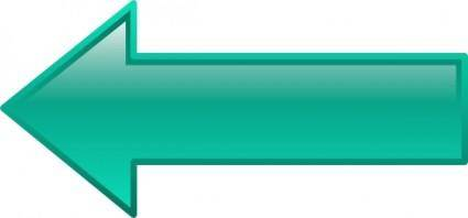 Arrow-left-seagreen clip art