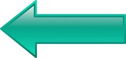 Arrow-left-seagreen clip art
