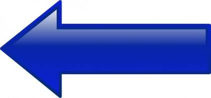 free vector Arrow-left-blue clip art