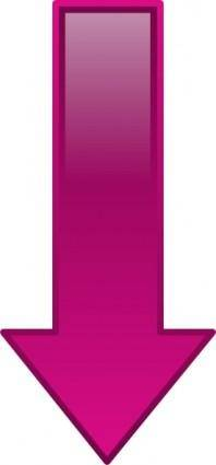free vector Arrow-down-purple clip art