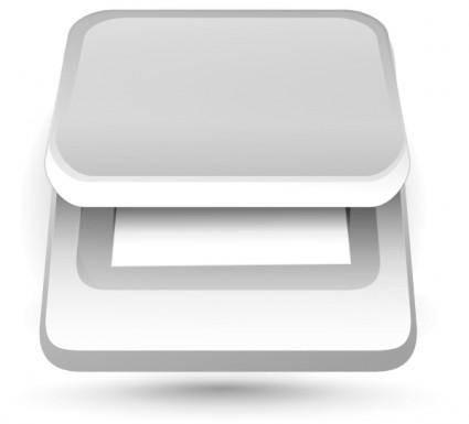 free vector Etiquette Scanner clip art