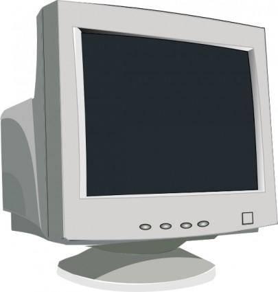 free vector Crt Tube Monitor clip art