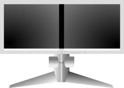 Doublesight Dual Monitor clip art