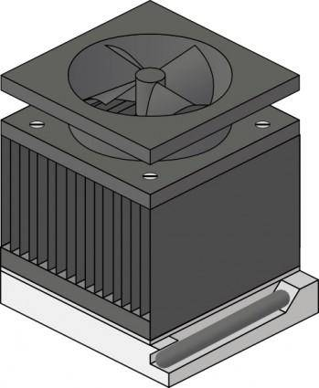 Cpu Heatsink Fan Socket Amd Duron clip art