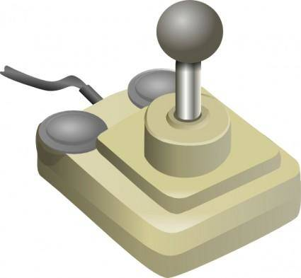 Joystick Beige Gray clip art