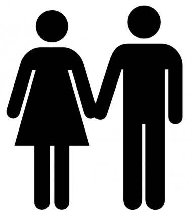 Man And Woman Icon clip art