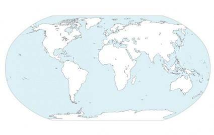 World Continents Map Vector