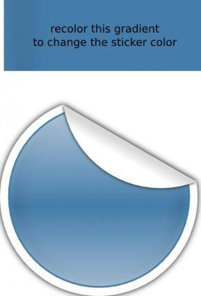 free vector Blue Sticker clip art