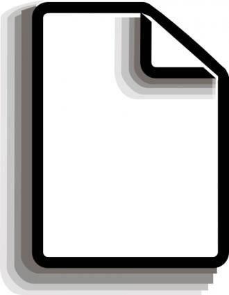 free vector Clip Of New File clip art