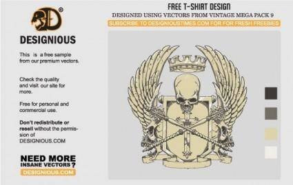 free vector Crest T-Shirt Design