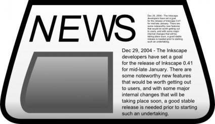 free vector Newspaper clip art
