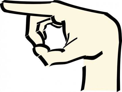 Pointing Hand clip art
