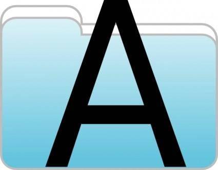 free vector Text Folder Icon clip art