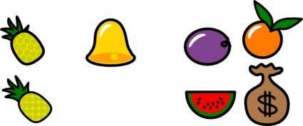free vector Bell Pineapple Blueberry Orange Apple Mellon Money clip art