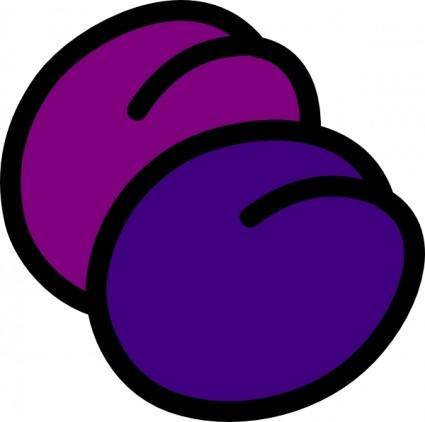 Plums Icon clip art