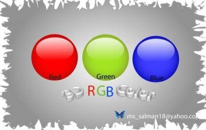free vector RGB-Color-Balls