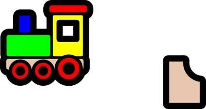 Toy Train Icon clip art