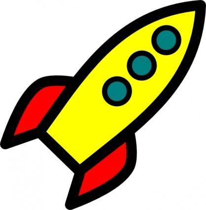 free vector Rocket clip art