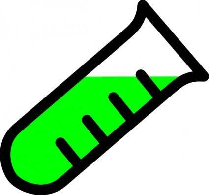 free vector Graded Test Tube clip art