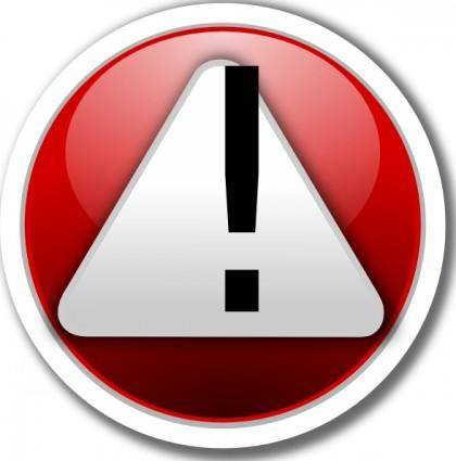 Alert Red Icon clip art