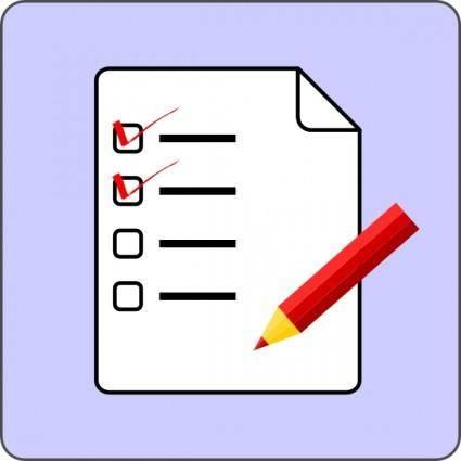 Cod Fsfe Checklist Icon clip art