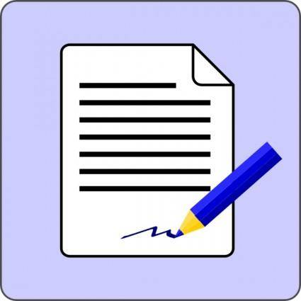 Sign Document Contract Icon clip art