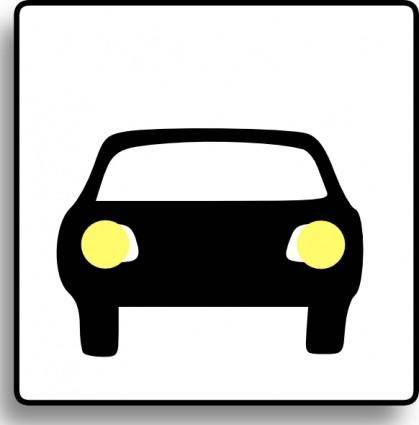 Car Icon For Use With Signs Or Buttons clip art