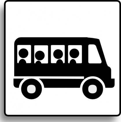Bus Icon For Use With Signs Or Buttons clip art