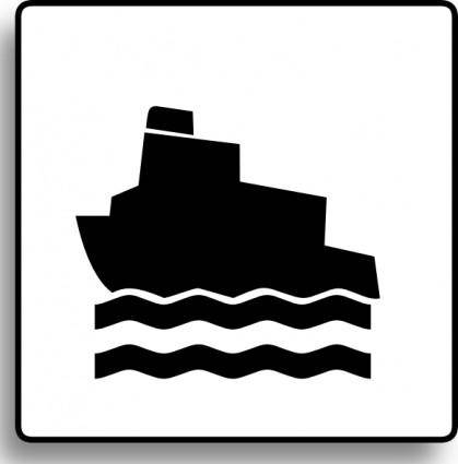 Ferry Icon For Use With Signs Or Buttons clip art