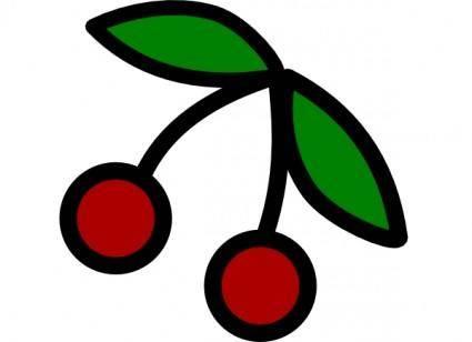 free vector Cherries Icon clip art