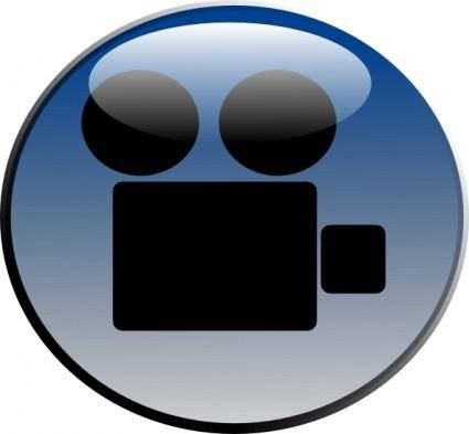 Video Camera Glossy Icon clip art