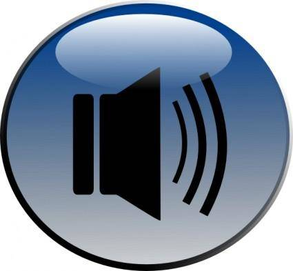 Audio Speaker Glossy Icon clip art