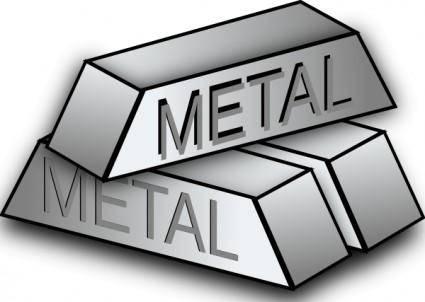 Metal Block Icons clip art