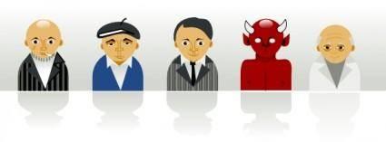Strange Personal Icons clip art
