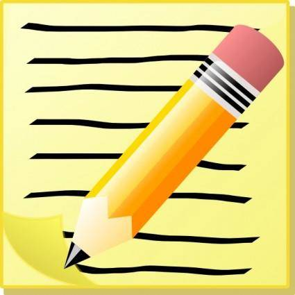 free vector Sephr Notepad With Text And Pencil clip art