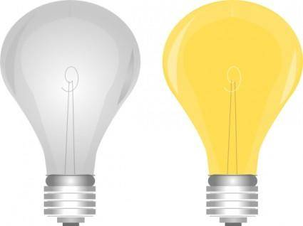 free vector Lightbulb On Off clip art