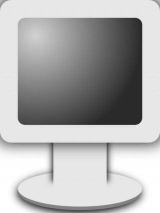 Computer Lcd Screen Icon Grayscale clip art