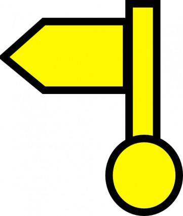 Yellow Flag clip art