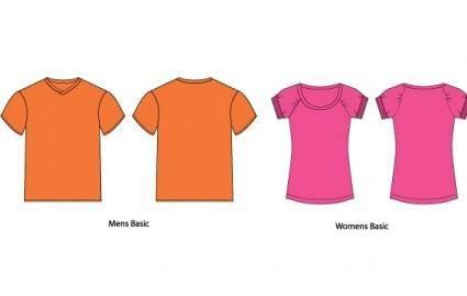 free vector Vector T-Shirt Templates