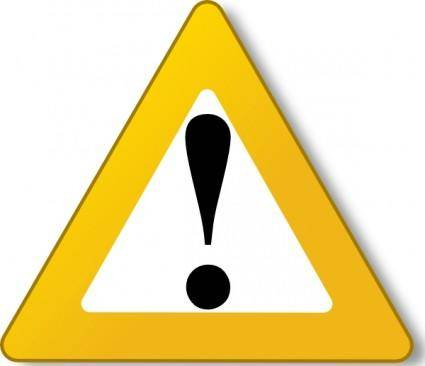 Warning Yellow clip art