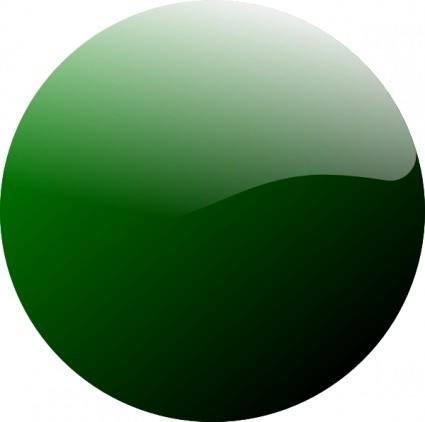 Green Round Icon clip art