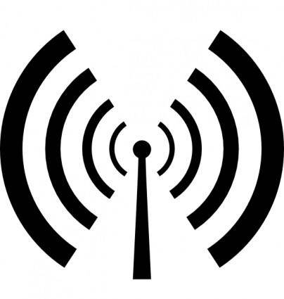 free vector Antenna And Radio Waves clip art