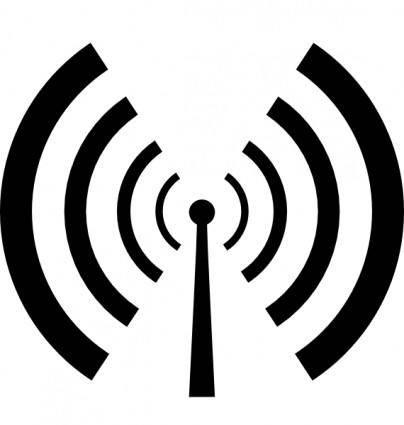 free vector Antenna And Radio Waves clip art